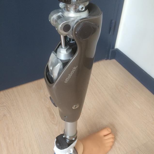 Emboiture à ischion intégré, genou C-leg, pied Talux